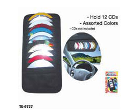 Trisonic CAR VISOR CD HOLDER 12CD'S - TS-9727