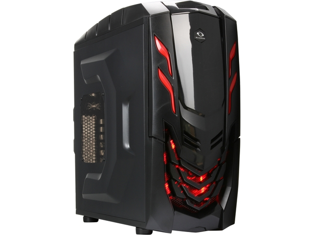 RAIDMAX Viper GX ATX-512WBR Black/Red Steel / Plastic ATX Mid To