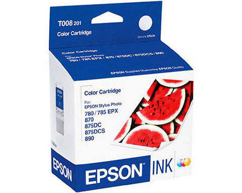 EPSON T008201 Five-Color Ink Cartridge Stylus Photo 780 785EPX