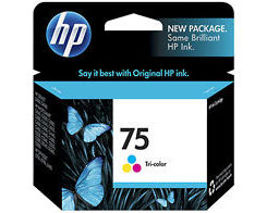 HP 75 Tricolor Ink Cartridge