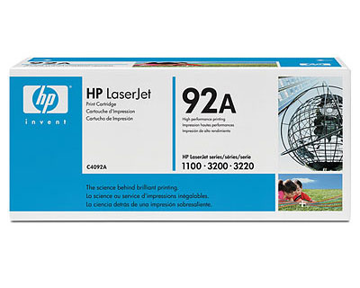 HP C4092A Black Toner Cartridge  for 1100 and 3200 Series