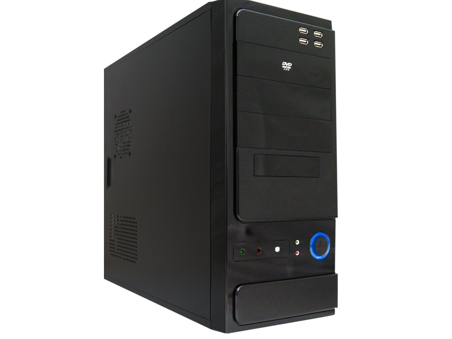 Logisys CS301BK Mid Tower Computer Case with 480W PSU Black