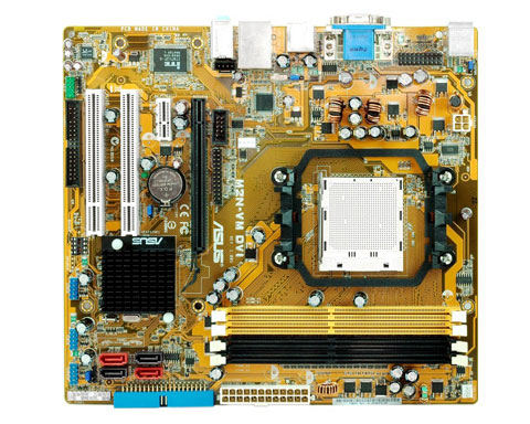 z sold out ASUS M2N-VM DVI Motherboard, Socket AM2+, Nvidia GeFo