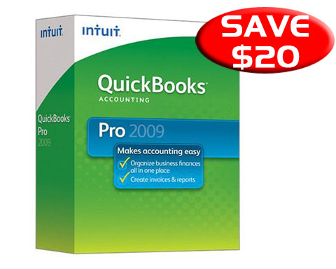 Quickbooks Pro 2009 Brand New Factory Sealed Retail Box