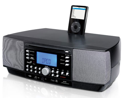 iTempo800CD 2.1CH iPod Dock Speaker - Built in Tuner CD iPod Ala