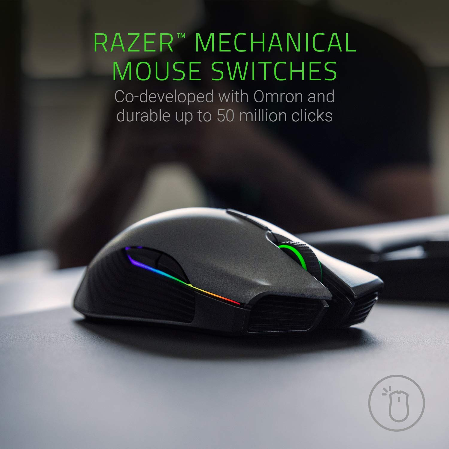 Razer Lancehead - Wireless Gaming Mouse: 16, 000 DPI Laser Senso