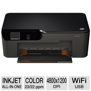 HEWLETT-PACKARD Deskjet Printer, 8ppm, 80Sht Cap, 17x15x17, Blac